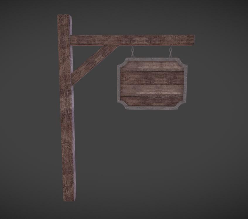 medieval signboard model