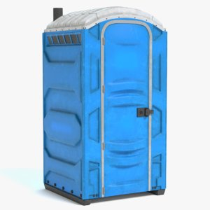 3D portable restroom