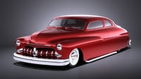 mercury coupe 1950 3D model