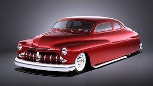 mercury coupe 1950 3D model