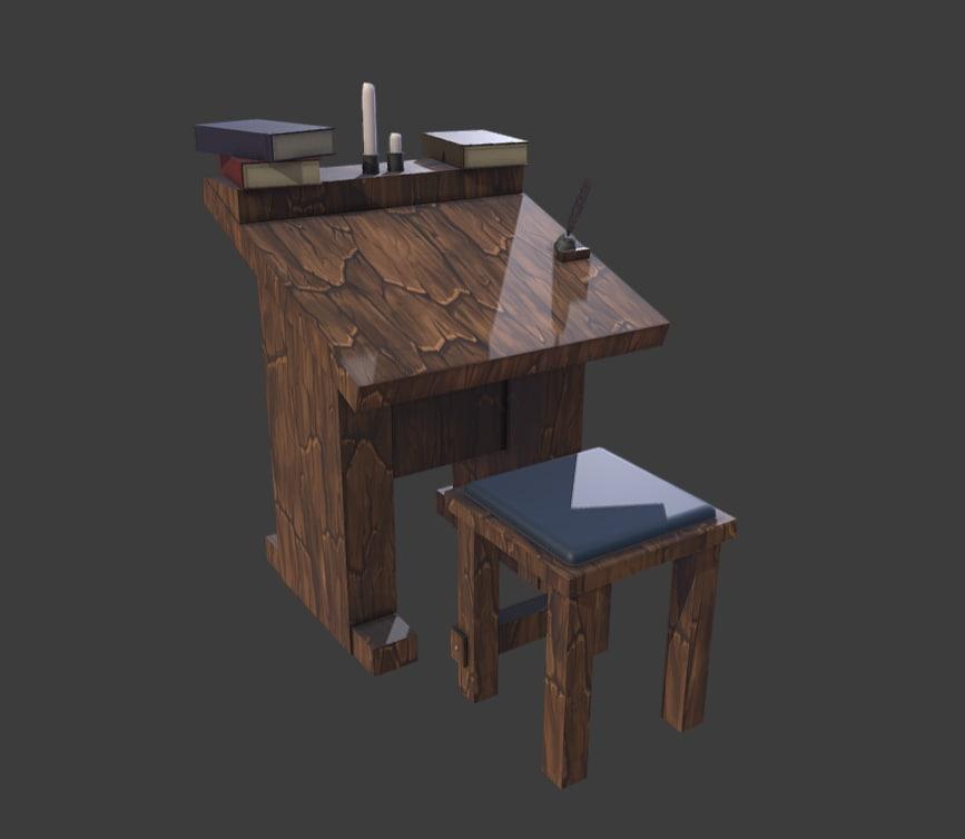 3D wizzard table model