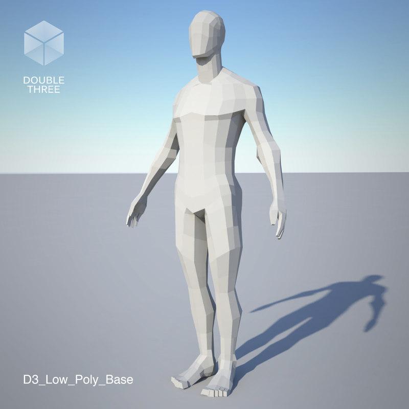 base male mesh 3D model