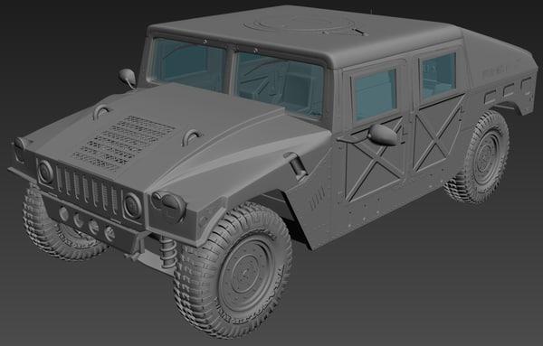 3D model hummer