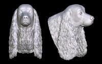 3D cocker spaniel head