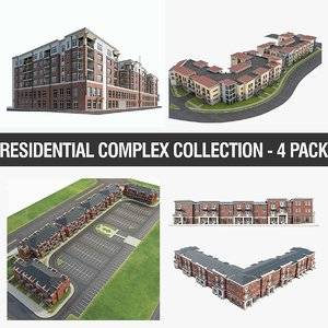 3D residential apartment buildings