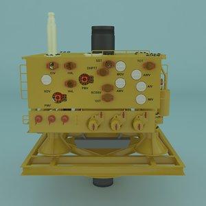 3D model tree offshore oil
