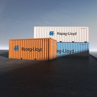 3D 40ft shipping containers model