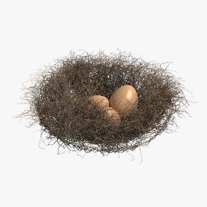 nest eggs 3D model