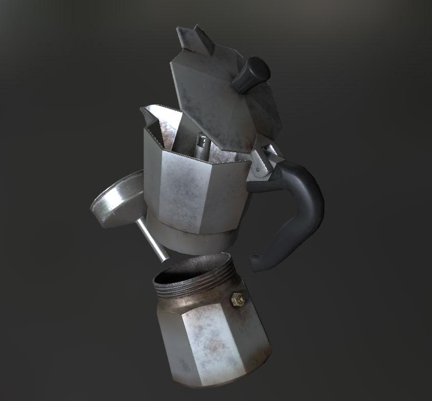 3D italian kettle pot