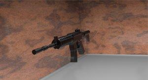 3D model m4a1 rifle
