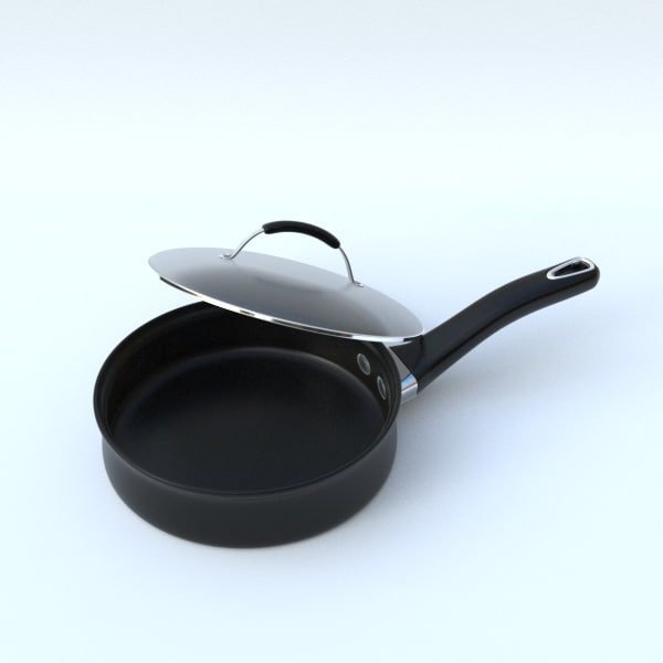 3D frying pan