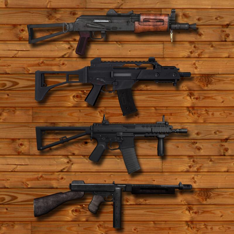 4 high-precision firearms model