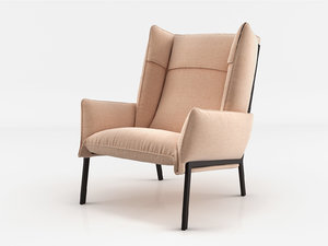 3D beau fixe armchair model