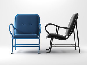 3D model gardenias armchair