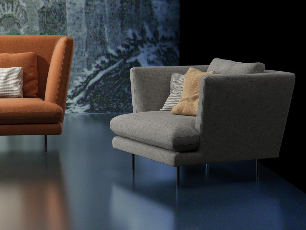 3D lars armchair model
