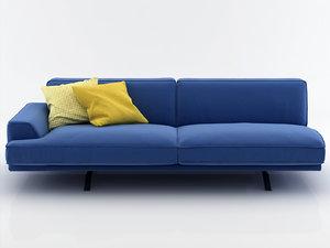 3D slab sofa 220 225
