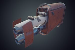 3D model star wars rey s