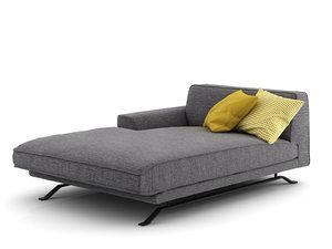 3D slab chaise longue 180