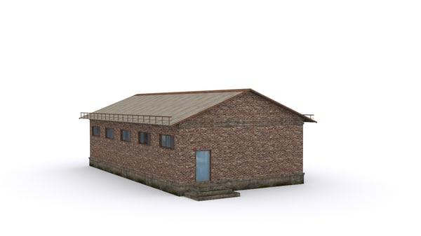 3D hangar model