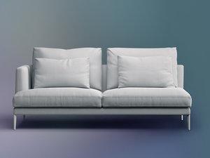 3D model paraiso end sofa