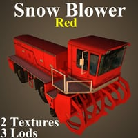snow red 3D model