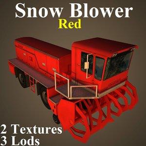 snow red 3D model