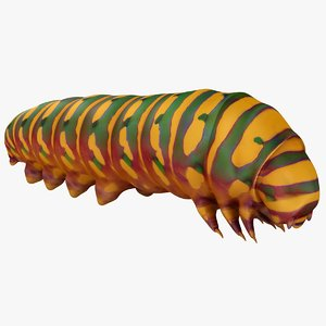 realistic caterpillars 03 3D