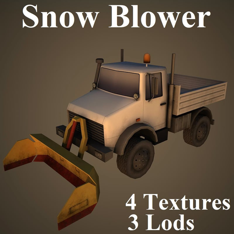 3D snow blower airport