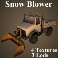3D snow blower airport