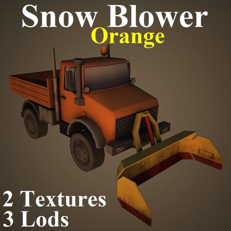 3D model snow ora