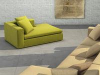 land chaise longue 3D