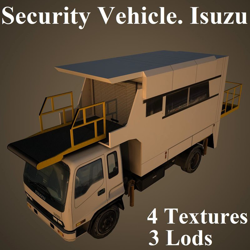 3D model security vehicle isuzu