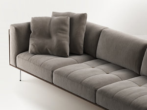 rod sofa 240 3D model