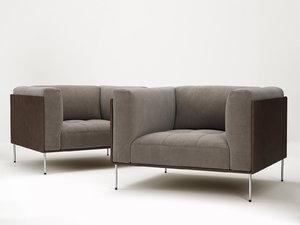 rod armchair 3D model