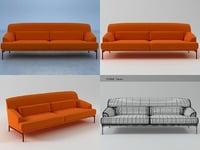 3D 2-seater sofa