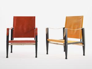 3D model safari chair
