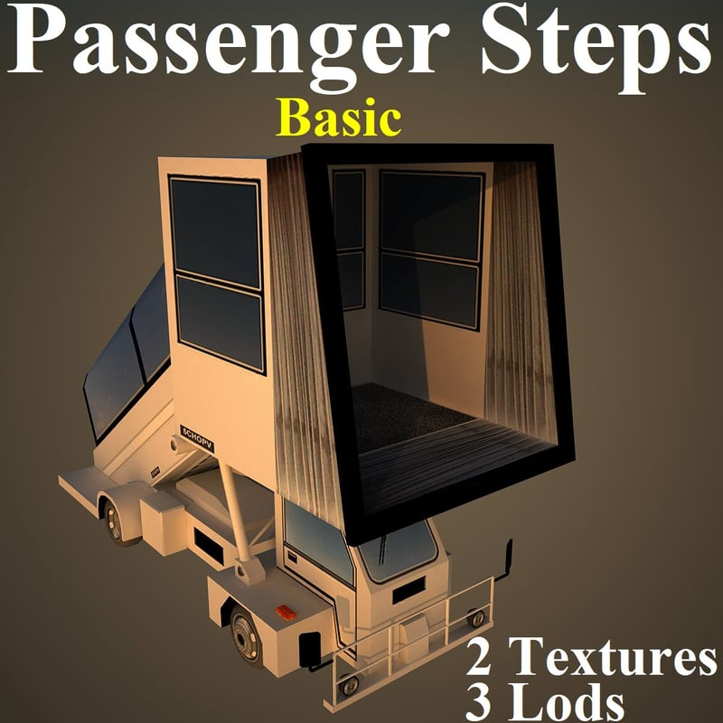passenger steps basic 3D model