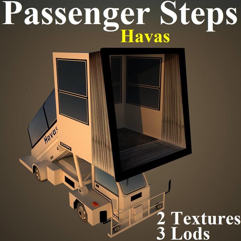 3D passenger steps hav model
