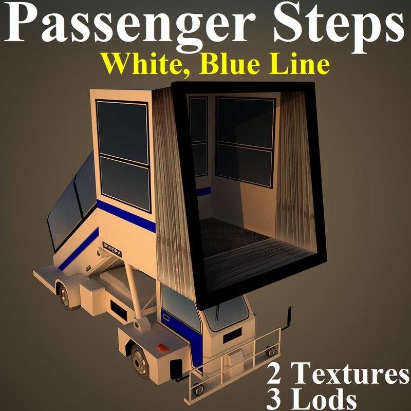 3D model passenger steps wbl