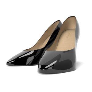 3D heels black model