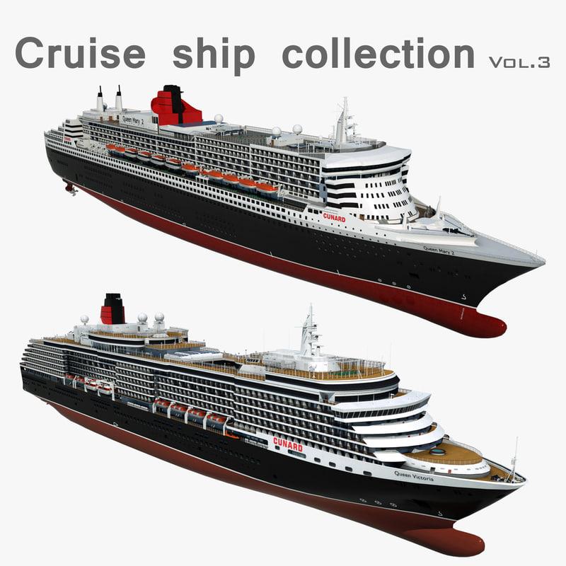 cruise ships 3 3D