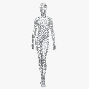 3D female wire mannequin
