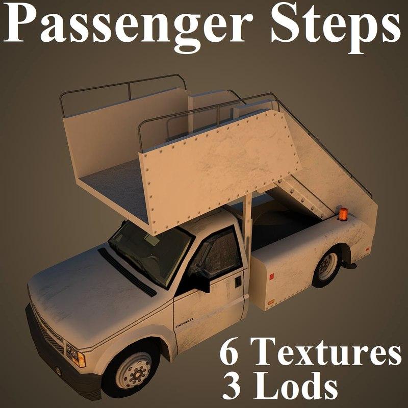 passenger steps 3D model