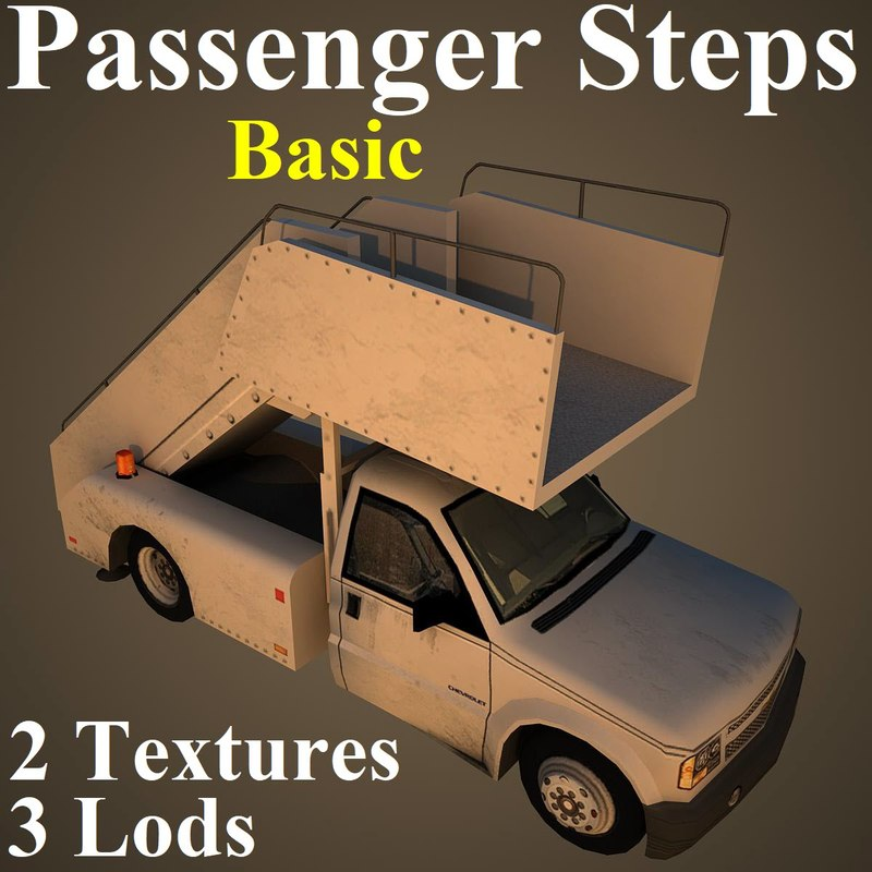 passenger steps basic 3D