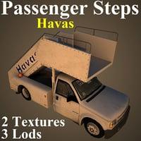 3D passenger steps hav