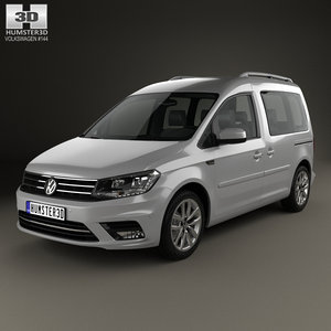 3D volkswagen caddy highline