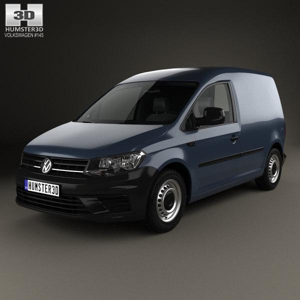 volkswagen caddy panel 3D model