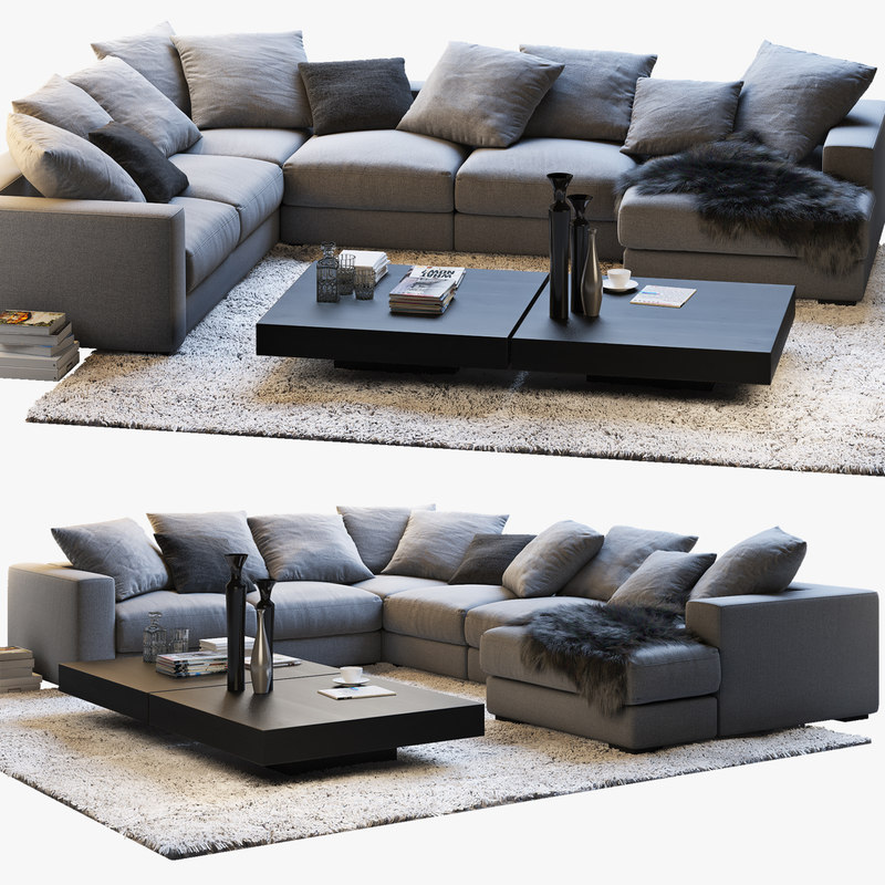 Boconcept Cenova Sofa Coffee Tables 3d Turbosquid 1173815