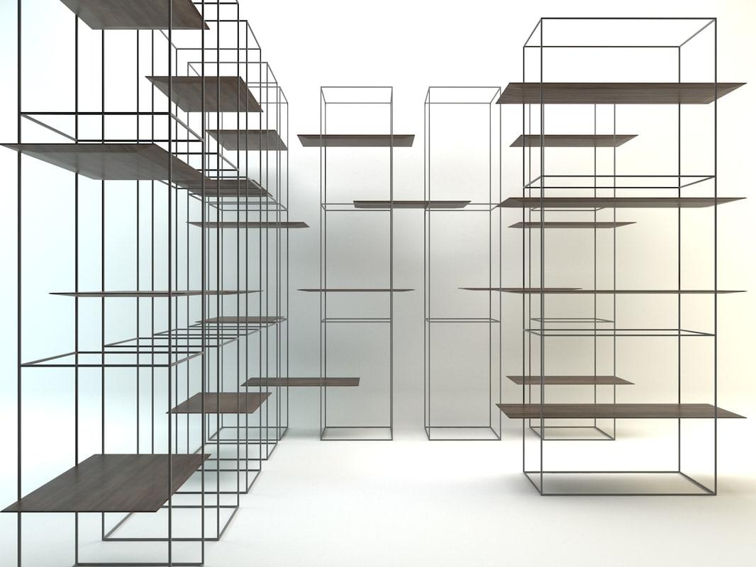 ron gilad modular shelving 3D