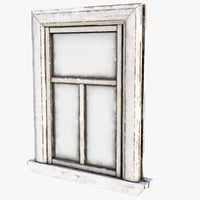 3D old window model